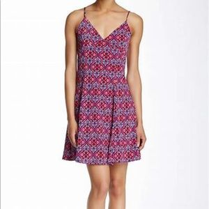 Painted Threads Tie Back Sleeveless Dress L